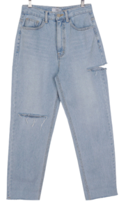 Boyfit washed denim trousers