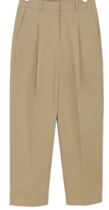Standard pin tuck cotton slacks
