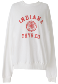 Indiana lettering sweat shirt