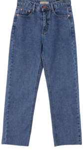 Damp blue jeans pants M