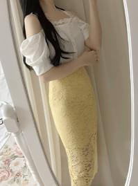Business lace long skirt