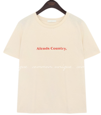 COUNTRY LETTERING COTTON 1/2 T