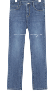 PONT SPAN STRAIGHT DENIM PANTS
