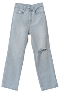 Vince Roll Up Damage Denim Pants