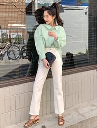 Fleta cotton straight pants
