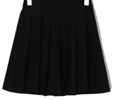 Pleated A-Line Banding Skirt