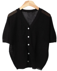 Niven V short-sleeved cardigan