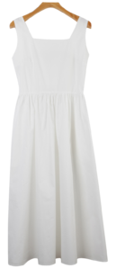 Back banding apron dress