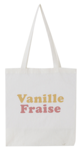 Vanilla Lettering Eco Bag