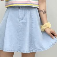 Minin banding denim skirt