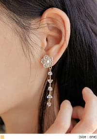 UNDER FLOWER DROP EARRING