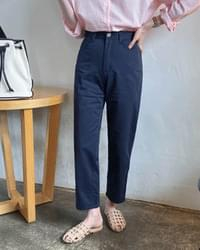 Lamp Straight Fit Cotton Pants