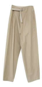 wide wrap belt pants