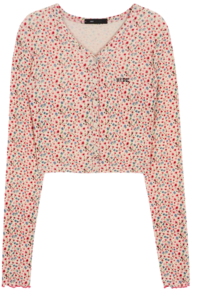 HIDE Flower Button Top (Pink)