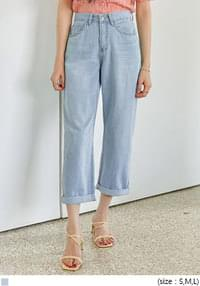 JED ROLL UP WIDE DENIM PANTS