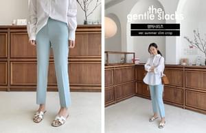 GENTLE classic SLACKS /ver.summer slim crop
