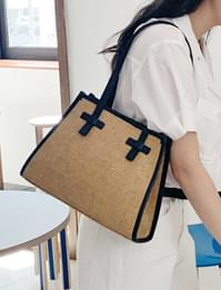 Margaret raffia shoulder bag