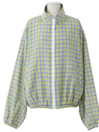 Multi color check blue end jumper