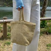 Minimalist natural tote bag