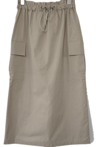 cargo pocket string midi skirt