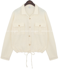 RONI LINEN POCKET STRING JACKET