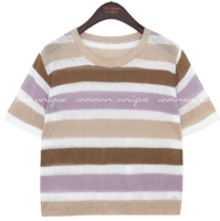 BOBO COLORING STRIPE 1/2 KNIT