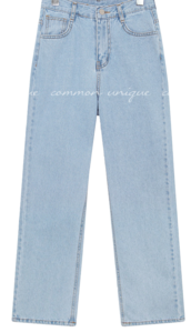 RUST STRAIGHT DENIM PANTS