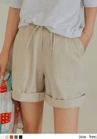 CENT BANDING COTTON SHORTS