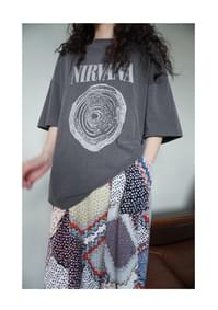 nirvana vintage washing T-shirt