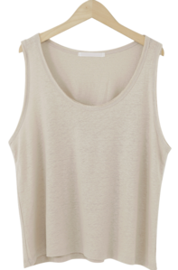 Simple Basic Linen Sleeveless