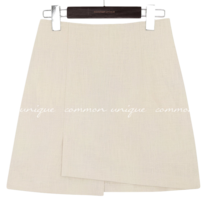 RENDI LINEN UNBAL MINI SKIRT