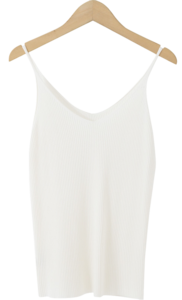 Ribbed slim knit sleeveless