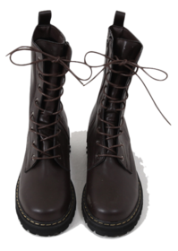 Vintage lace-up walker boots
