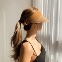 Rattan Short-Cut Suncap Hat 3color