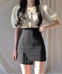 High Unbal Mini Skirt