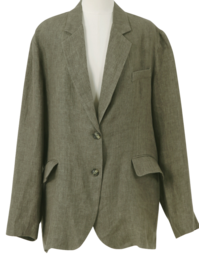 Classic linen tailored jacket