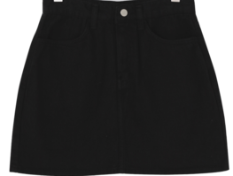 Pigmented cotton mini skirt