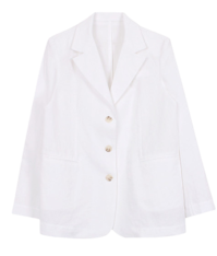 Three button linen jacket