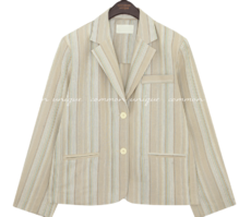 MARNO LINEN STRIPE JACKET