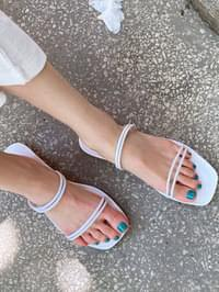 Two cushion sandals