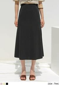 POI HIDDEN BANDING FLARE LONG SKIRT