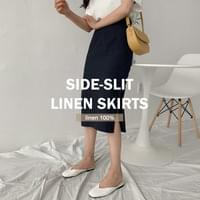 Linen Im Linen H Long Skirt