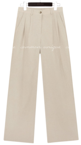 BRINI LINEN SET-UP WIDE SLACKS