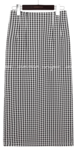 CORI GINGHAM CHECK LONG SKIRT