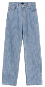 Rain wide denim jeans