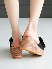 Coeden Wedge Thick sole mule slippers 7 cm