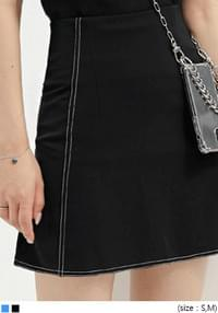 DENIN STITCH MINI SKIRT