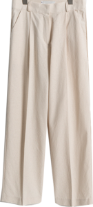 Tapered cotton slacks