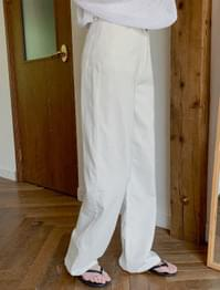 Creamy Straight Maxi Cotton Pants