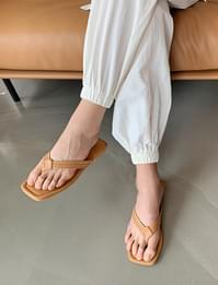 Braid Square Flat Slipper